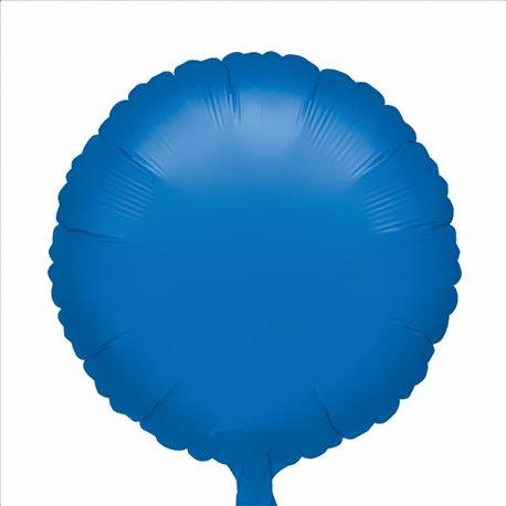 Balon folie albastru metalizat rotund - 18 cm, Anagram 24129, 1 buc