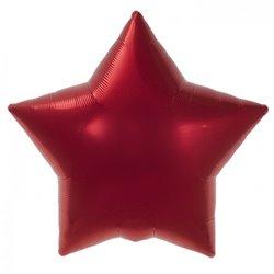 Balon folie rosu metalizat cu forma de stea - 45 cm, Northstar Balloons 00372, 1 buc
