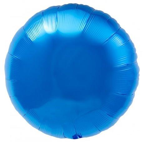 "Metallic Blue Circle Foil Balloon - 18""/45 cm, Northstar Balloons 00729, 1 piece"