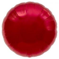 Balon folie rosu metalizat rotund - 45 cm, Northstar Balloons 00733, 1 buc