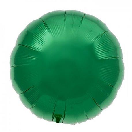 "Metallic Emerald Green Circle Foil Balloon - 18""/45 cm, Northstar Balloons 00742, 1 piece"