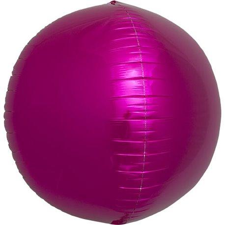 Balon folie Sfera 3D magenta metalizat - 43 cm, Northstar Balloons 01006, 1 buc