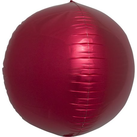 Foil Sphere Balloon 3D Red, 43 cm, 01008