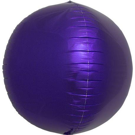 "Metallic Purple 3D Sphere Foil Balloon - 17""/43 cm, Northstar Balloons 01009, 1 piece"