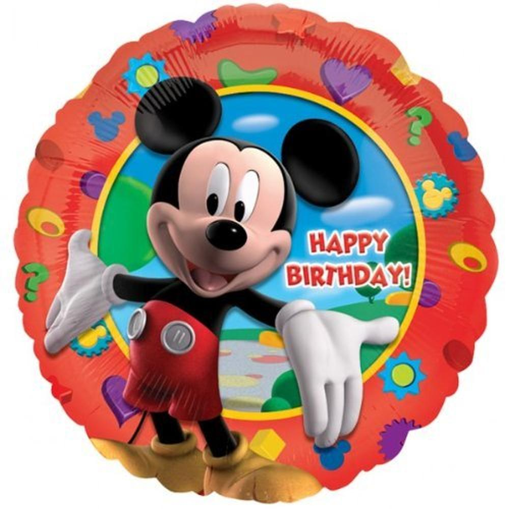 mickey mouse clubhouse happy birthday foil balloon 18 45cm amscan 14055. Black Bedroom Furniture Sets. Home Design Ideas