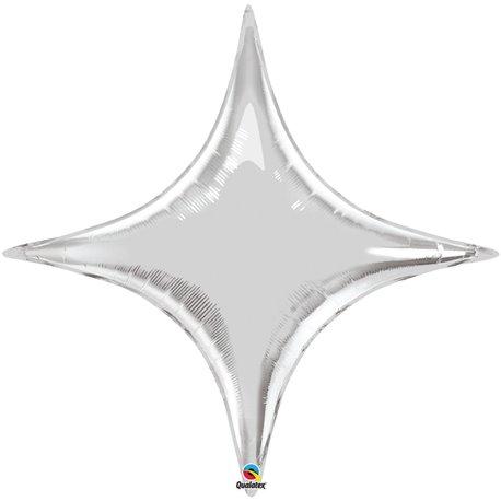 Balon Folie Argintiu Metalizat Starpoint - 50 cm, Qualatex 22912, 1 buc