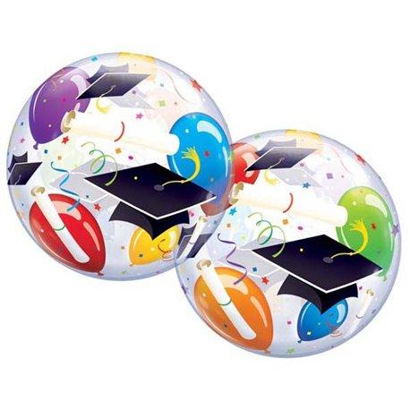 """Balon Bubble pentru petrecere absolvire - 22""""/56cm, Qualatex 18693, 1 buc"""