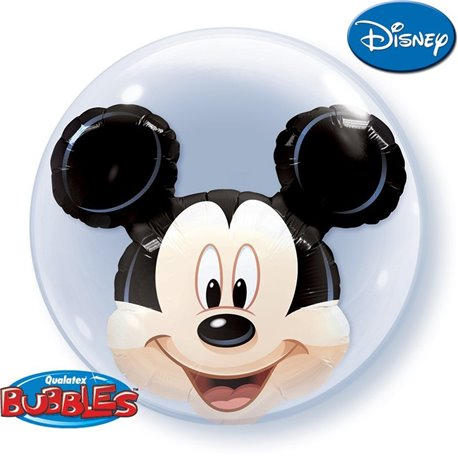 "Mickey Mouse Double Bubble Balloon, Qualatex, 24"", 27569"