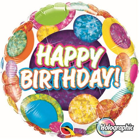 Balon Folie 45 cm Qualatex, Birthday Baloane, 37884