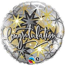 Balon Folie 45 cm, Qualatex, Congratulations Stele, 36397