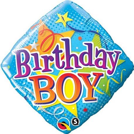 Balon Folie 45 cm, Qualatex, Birthday Boy, 34434