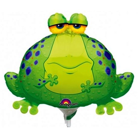 "Balon Folie Mini-Figurina Big Bullfrog - 9""/23 cm, Anagram 0593902, 1 buc"