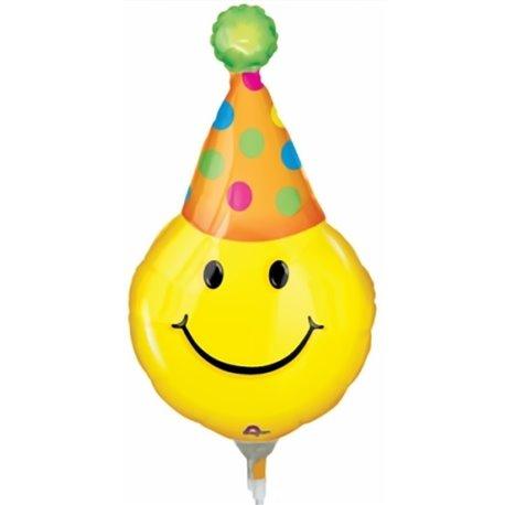 "Balon Folie Mini-Figurina Smiley - 14""/36 cm, Anagram 0772202, 1 buc"