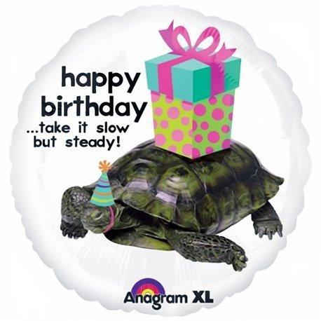 "Balon Folie 45 cm ""Happy Birthday"" cu Testoasa, Anagram 1992701"