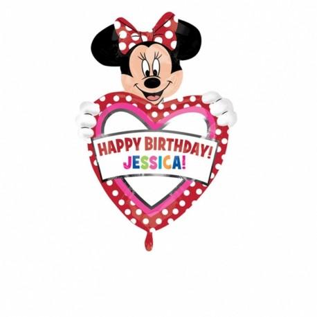 Balon folie figurina Minnie Mouse cu personalizare, 26363