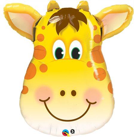 Balloon Foil Supershape Jolly Giraffe Ea, 80 cm, 31038