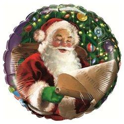 """Santa Claus Foil Balloon - 18""""/45cm, Qualatex 32343"""