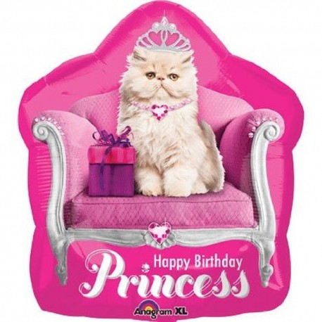 Balon Folie Figurina Kitten Princess Birthday - 50x55 cm, Anagram 26793