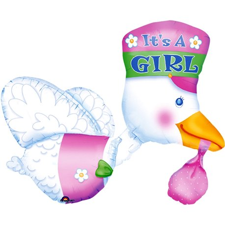 "It's a Girl Bundle of Joy SuperShape Foil Balloon, Anagram, 32"" ,07026"