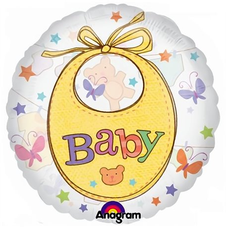 "Precious Baby Clothesline See-Thru 26"" Shape Foil Balloon, Anagram 2008601"