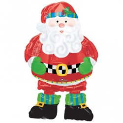 """Whimsical Santa Air-Walkers Foil Balloon - 94cm/37"""", Anagram 0800601"""