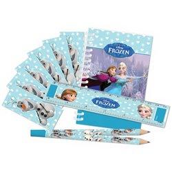 "Set papetarie ""Frozen""  (carnetel, creion, rigla, stickere), Amscan 999237, 20 piese"