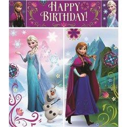 Kit decoratiuni de perete Frozen, Amscan 999262, Set 5 piese
