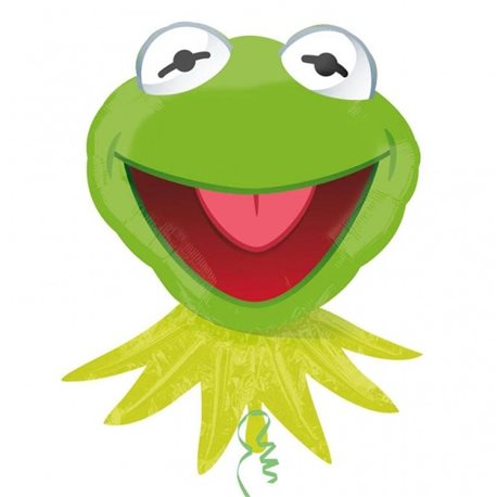 The Muppets Party -Kermit the Frog Supershape Foil Balloon, 61x76 cm, 23072