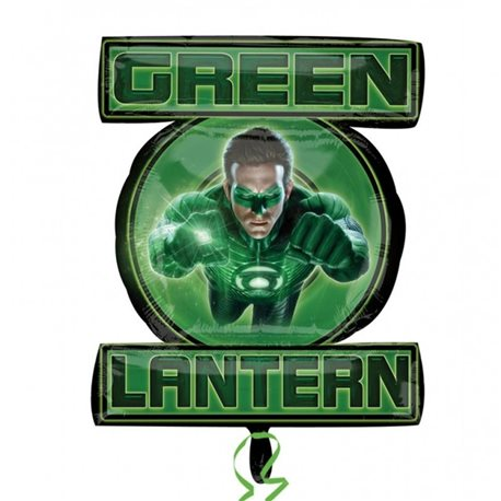 Green Lantern Birthday Party - Green Lantern Supershape Foil Balloon, 53x61 cm, 22327