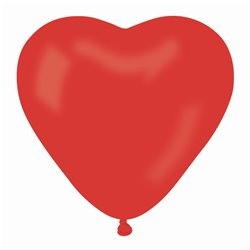 Latex Red 45 Heart Balloons, 6 inch (16 cm), Gemar ACR6.45, Pack Of 100 pieces