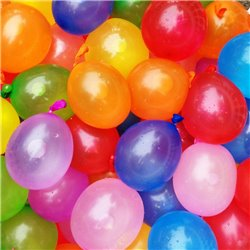 Assorted Water Bombs Latex Balloons - 6 cm, Amscan 6437, Pack Of 100 pieces