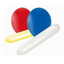 Assorted Shapes Mixed Sizes Latex Balloons, Amscan 110827A, Pack of 25 Pieces