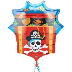 Balon Folie Figurina Pirate Treasure Chest, 63 x 71 cm, 10997