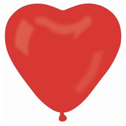 """Red 45 Heart Latex Balloons - 10""""/25cm, Gemar ACR.45, Pack Of 100 pieces"""