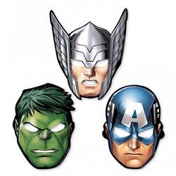 Masti copii pentru petrecere - Avengers, Amscan 360084-55, Set 8 buc