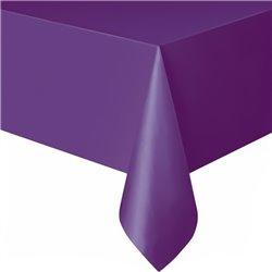 Fata de masa violet din plastic - 137x274 cm, Amscan 77015-25, 1 buc