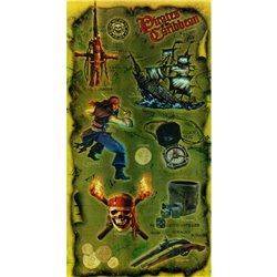 Stickere decorative pentru copii - Piratii din Caraibe, Amscan RM 300020
