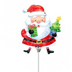 "Balon Folie Mini-Figurina Mos Craciun - 9""/23cm, Amscan 2727202"