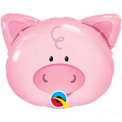"""Balon Folie Figurina Playful Pig  - 14""""/36cm, Qualatex 41799"""