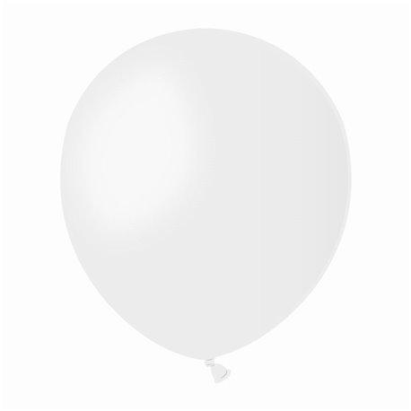 Baloane Latex Albe, 13 cm, Gemar A50.01, set 100 buc