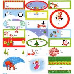 Etichete pentru cadouri Craciun, Amscan 262006, Set 20 buc